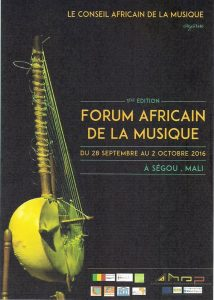 african forum on music 2016 poster