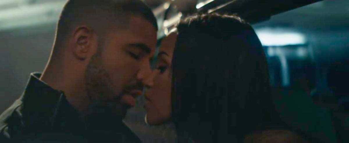 drake and actress fanny neguesha in please forgive me