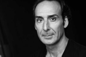 B&W portrait of Alexandre Desplat