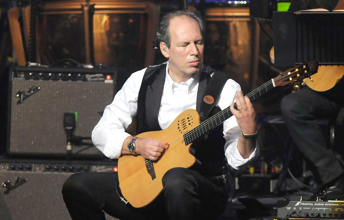 Hans Zimmer plays guitar