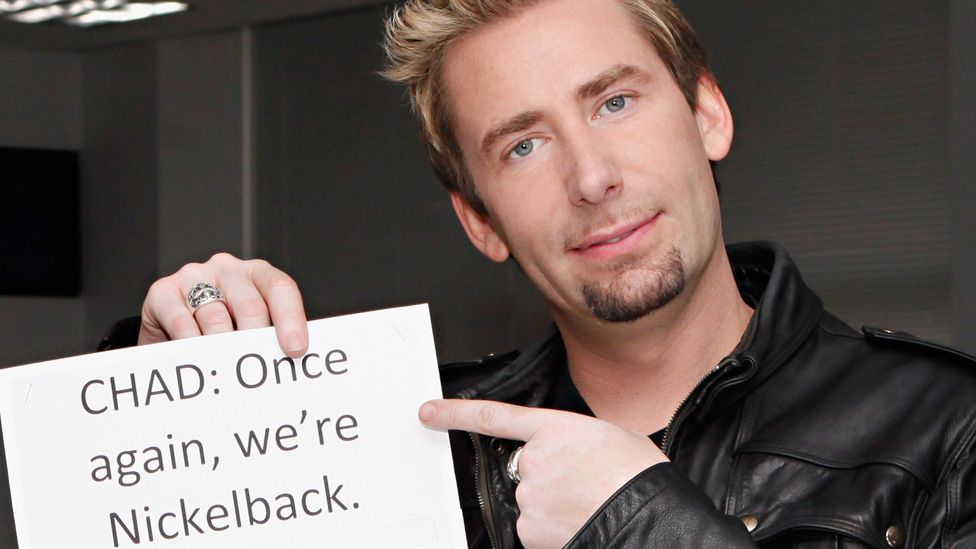 Chad Kroger of Nickelback, the music industry's most successful losers. (Photo courtesy the BBC)