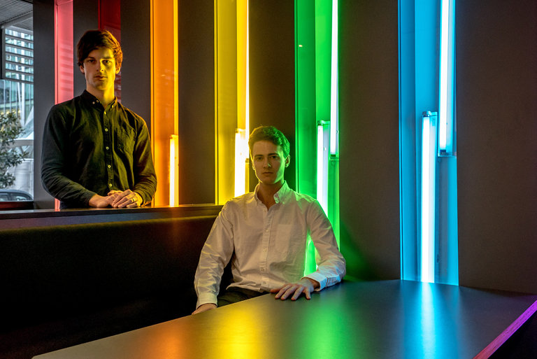 Jukedeck founders Ed Newton-Rex and Patrick Stobbs, photographed for The New York Times by Andrew Testa.
