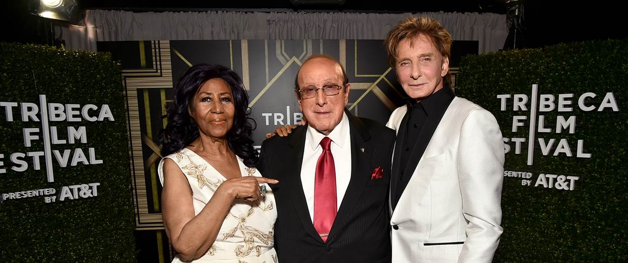 Aretha Franklin, Clive Davis and Barry Manilow