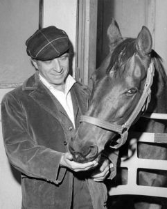 Elmer Bernstein and his racehorse.