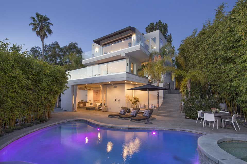 View from the pool of Harry Styles' Hollywood home.