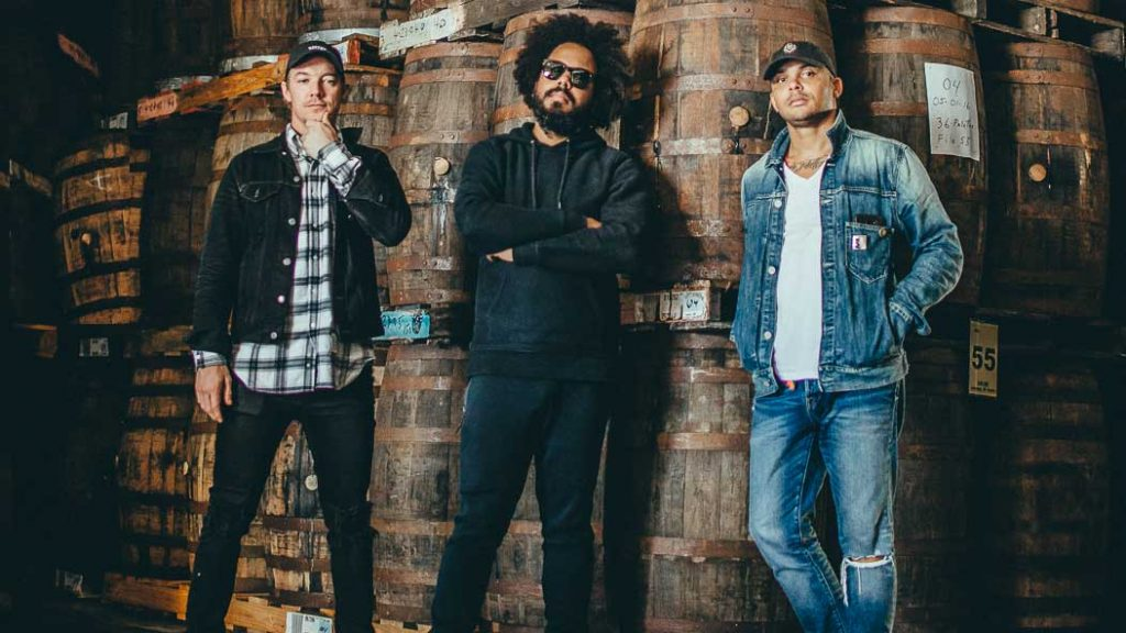 Diplo, Jillionaire and Walshy Fire rumming it at the Bacardi plant.