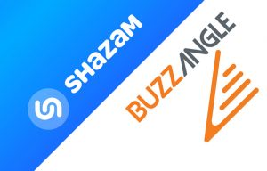 Shazam and BuzzAngle logos