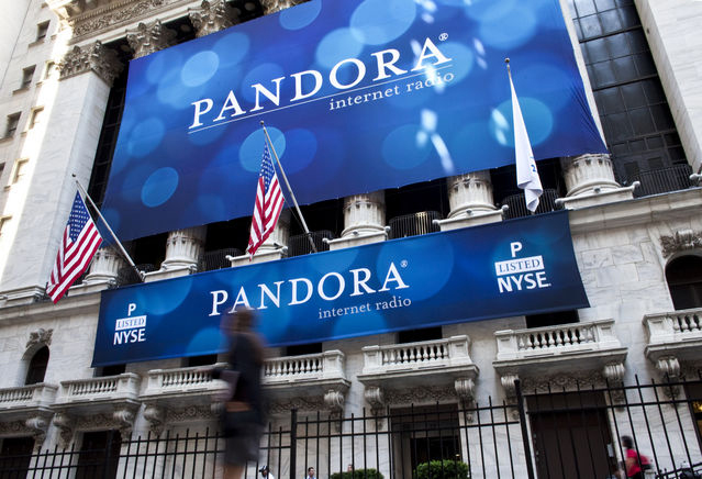 Pandora goes public at the New York Stock Exchange in 2011