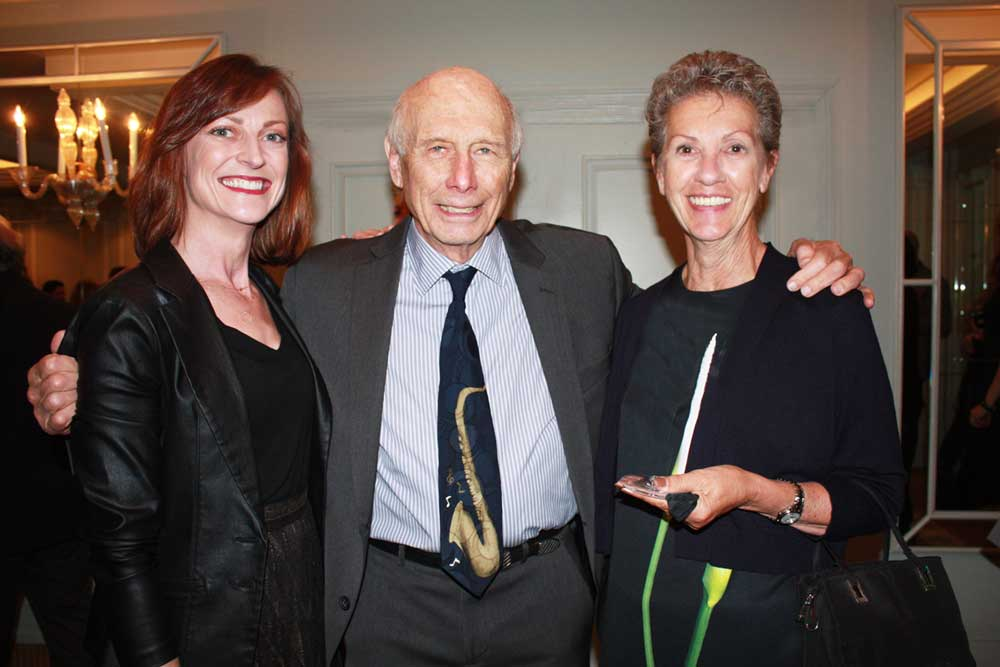Jay Cooper with Rebecca Herrick (left) and Rose Scaraglino.