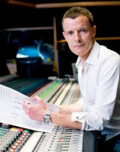 Composer Martin Phipps at the mixing board