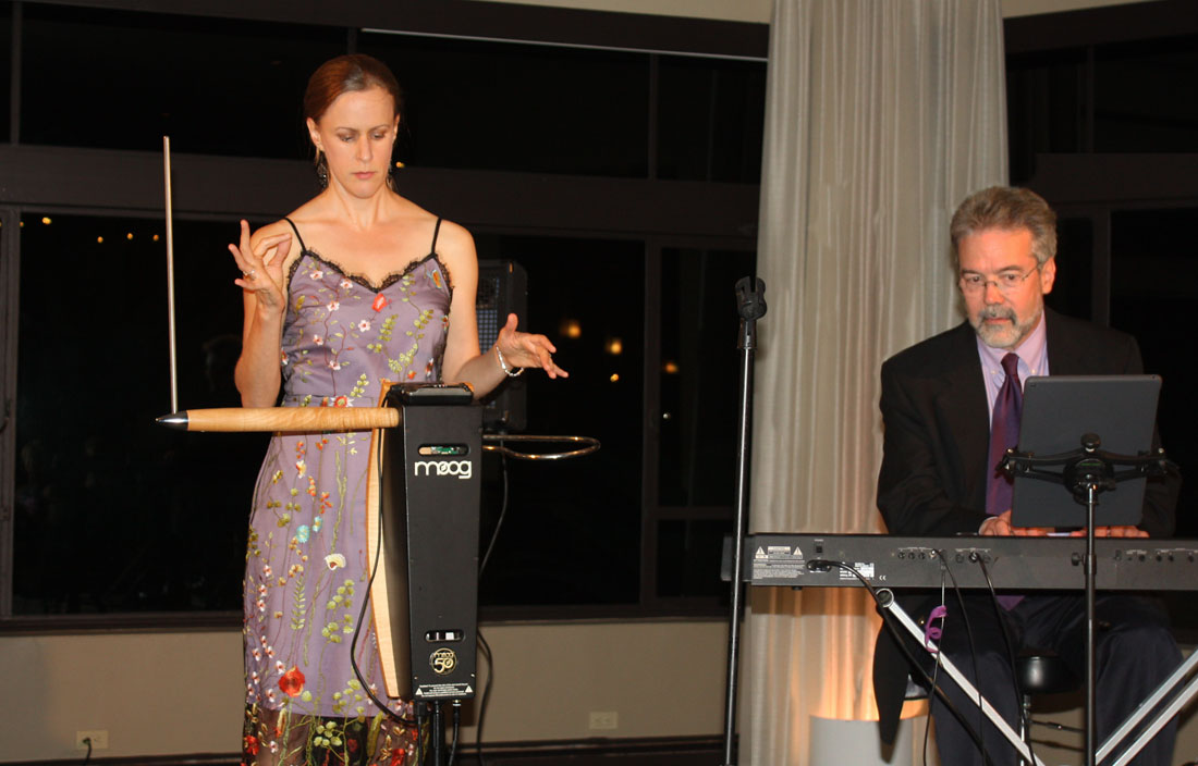 Lara Wickes plays theramin with Alan Steinberger on keyboard.