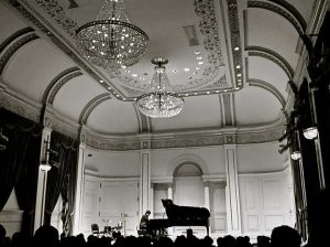 David Cieri playing piano at Carnegie Hall