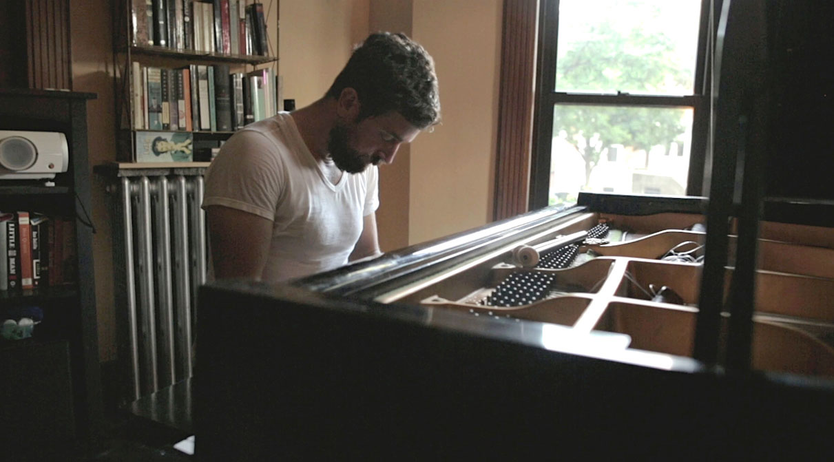 Composer David Cieri at the piano.