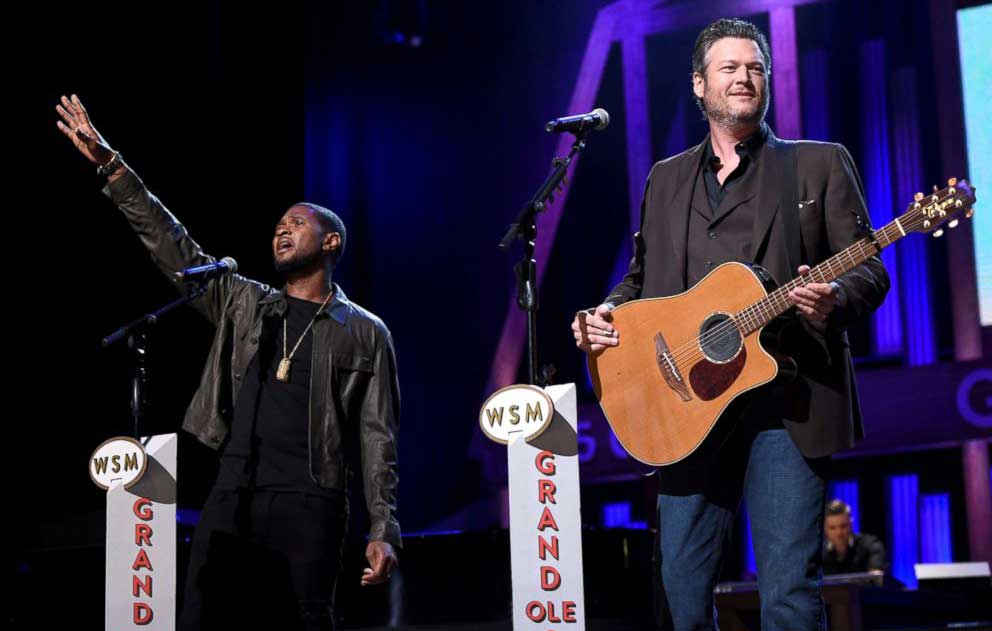 "Usher and Blake Shelton perform for ""Hand in Hand: A Benefit for Hurricane Relief"""