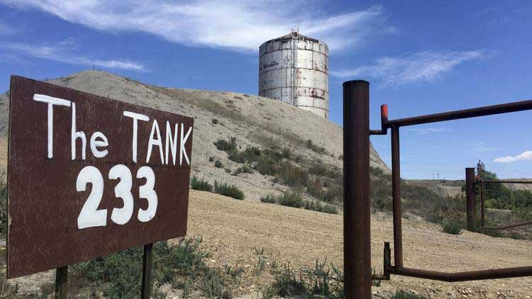 An old water tank is now a recording destination in Rangely, Colorado